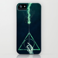 Harry Potter deathly hallows voldemort expecto patronum art painting iPhone & iPod Case by Pointsalestore