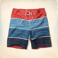 Abstract Print Classic Fit Swim Shorts