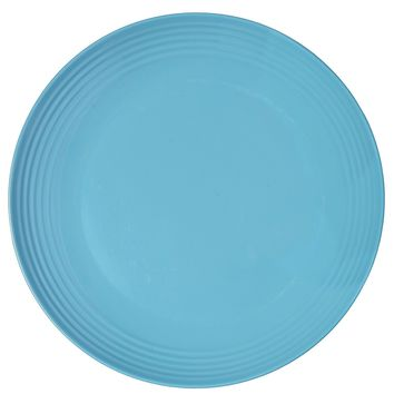 Melange 6-Piece Melamine Dinner Plate Set (Solids Collection ) | Shatter-Proof and Chip-Resistant Melamine Dinner Plates | Color: Blue