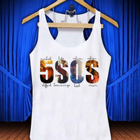 5 Second Of Summer #thetengtop for Tank Top Mens and Tank Top Girls custom