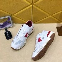 Versace White/Red Woman Men Fashion Sneakers Sport Shoes