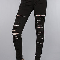 Tripp NYC The Ripped Jean with White Lace
