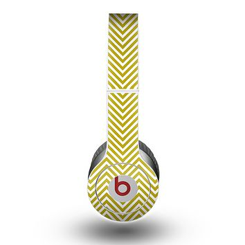 The White & vintage Green Sharp Chevron Pattern copy Skin for the Beats by Dre Original Solo-Solo HD Headphones