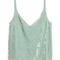 Crushed-velvet Camisole Top - from H&M