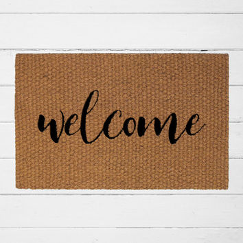 Welcome Doormat, Outdoor Rug, Entry Rug, Home Decor, Welcome Mat, Housewarming Gift, Front Door Decor