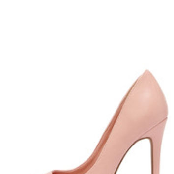 Click Your Heels Blush Pink Pointed Pumps
