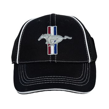 Ford Mustang GT Logo Hat Flexfit Embroidered Cap