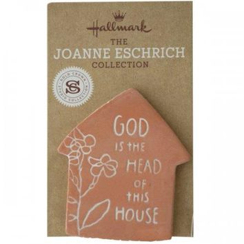 God Is The Head Of This House Clay Magnet