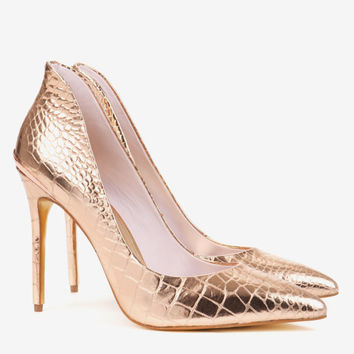 High back court shoes - Rose Gold | Shoes | Ted Baker