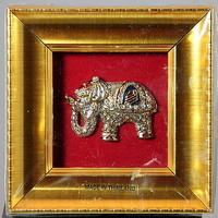Miniature Thailand Elephant Framed Wall Decor