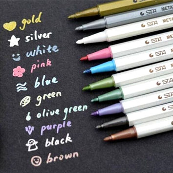DIY Cute Kawaii Water Chalk Pen Watercolor Gel Pen for Black Board Photo album Home Decoration Scrapbooking Free shipping