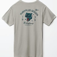 Billabong Big Cats T-Shirt - Mens Tee - Gray