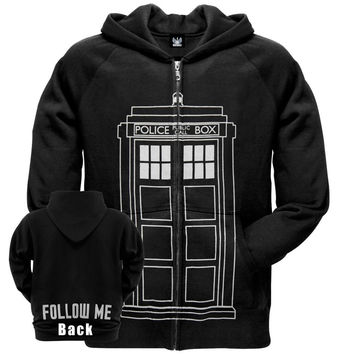 Doctor Who - Follow Me Tardis Zip Hoodie