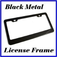 Blank Black Metal License Plate Frame