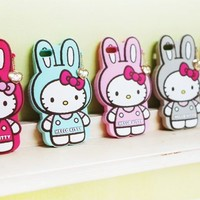 Cute Hello Kitty Rabbit Silicone Mobile Case for iPhone 6