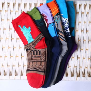 Women's Socks Mural Art Casual Socks Men Graffiti Unisex Socks Paintings Sock F05