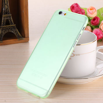 Army Green Translucent Slim Soft Plastic Ultra Thin Matte Case Cover Skin Shell for iPhone 6 6s 6 Plus 6s Plus