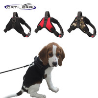 Ortilerri Dog Harness Nylon Luxury Thicken Horse Saddle Big Dog Chest Vest Chihuahua Traction Rope for Dog Collar Pet Supplies