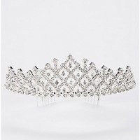 CZ Floating Tiered Tiara - Spencer's