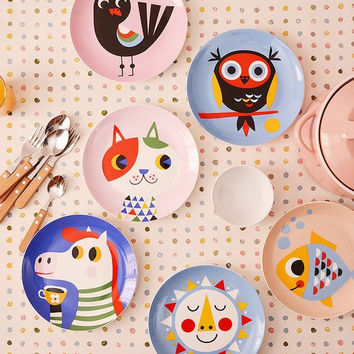 Cartoon Ceramic Plates