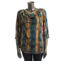 Style&co. Womens Plus   Cowl Neckline Casual Blouse