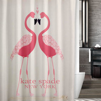 "New Design Favorite Kate Spade Pink Flamingo Custom Shower Curtain 66"" x 72"""
