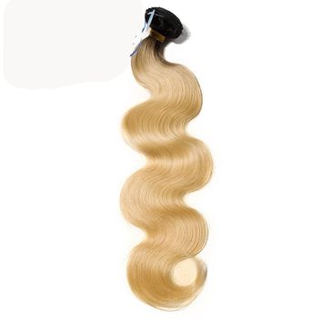 New Star Brazilian Black Roots Blonde Body Wave One Bundles 12-30Inch T1b/613 Extensions 100% Remy Human Hair Weaving