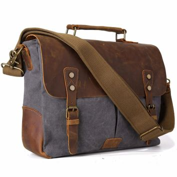 2017 Rushed Handmade Men Tote Bags Leather Hobo Padded Strap Crossbody School Bag Organizer For Handsome11435