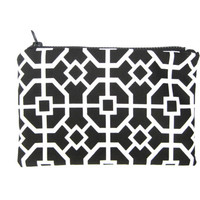 Zipper Pouch Cosmetic Makeup Bag ID Holder Credit Card Holder Accessory Holder Sport Gym Pouch Cute Black White Geometric Pouch Teen Gift