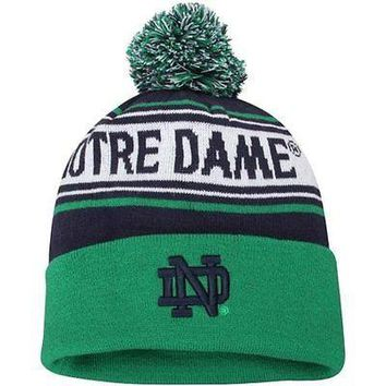 Notre Dame Fighting Irish Top of the World Ambient Cuffed Knit Hat with Pom