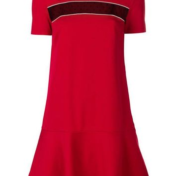 CREYONJF Red Valentino Mesh Panel T-shirt Dress - Farfetch