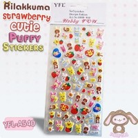 Rilakkuma Strawberry Cutie Puffy Stickers