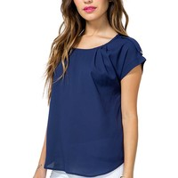 Hilary Pleat Tee