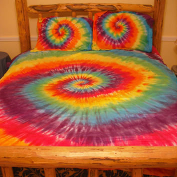 Tie dye Twin, Full/Queen, or King/California King Duvet Cover set