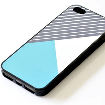Color-blocking iPhone Case - Geometric Light Blue