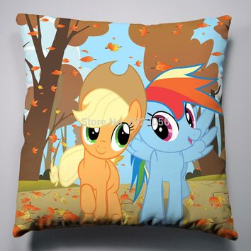 Anime Manga My Little Pony Rainbow Horse Pillow 40x40cm Pillow Case Cover Seat Bedding Cushion 006