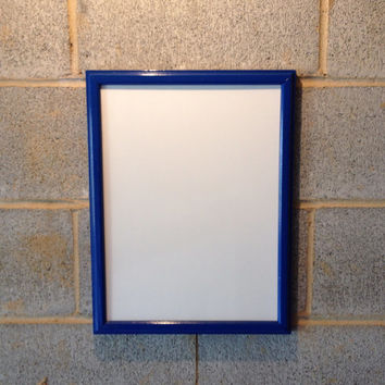Vintage Framed Whiteboard/ Dry Erase Board - Blue, Wedding, ManCave, Business, Boy's Room, Kitchen, Beach Decor, Office, Classroom, School