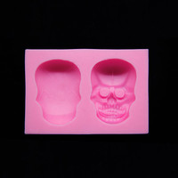 Halloween Skull Cake Chocolate Cookies Bread Decorating Baking Moulds Tool
