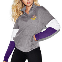Louisiana State University Bling Boyfriend Half-Zip - PINK - Victoria's Secret