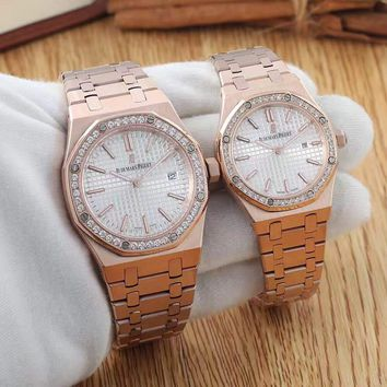 cc hcxx AP AP15202 automatic rose gold with white 39MM/33MM  MEN & WOMEN