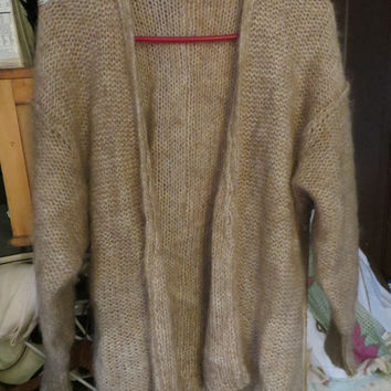 tOTALLY 80s Liz Claiborne bulky knit mohair  oversized cardigan sweater  sz small