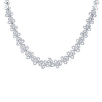 8.30ct 18k White Gold Diamond Necklace