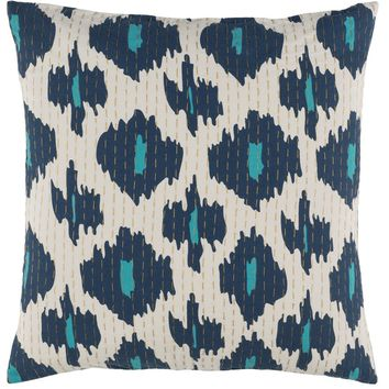 Kantha Blue and White Tribal Pillows