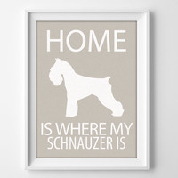 "8x10"" Schnauzer Wall Art, Illustrated Dog Art, Schnauzer Decor, Dog Breed Wall Art, Schnauzer Lover, Miniature Schnauzer, Schnauzer Gift"