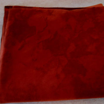 Upholstery Fabric: Rust, Orange, Brown, Suede or faux suede (3 yards)
