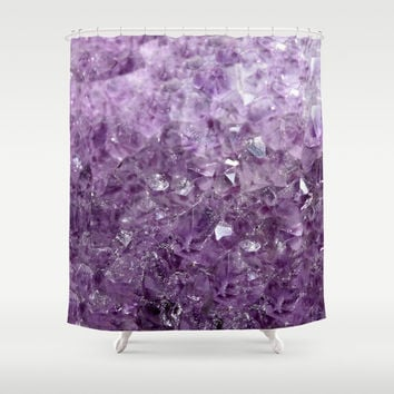 Amesthyst Sparks Shower Curtain by RDelean