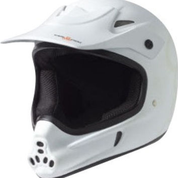 Triple 8 Invader Full Face Helmet Small/Medium White Cpsc/Atsm