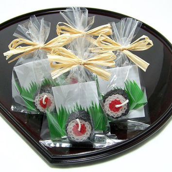 Sushi Party Favour Tekka Maki Sushi Candle Favor Beeswax Red Maguro Tuna Fish Japanese Sushi Bar Fake Food