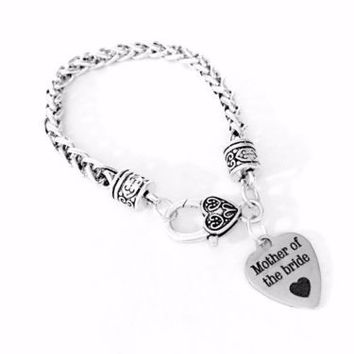 Mother Of The Bride Wedding Party Gift Charm Bracelet