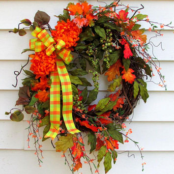 Fall wreaths for front door, Elegant Fall wreaths, Autumn wreath, rustic Fall wreath, Rustic wreath, wreath for door, berry wreath